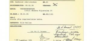 Siim Kallase allkiri VEB