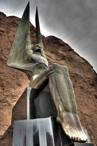 Hoover Dam angel