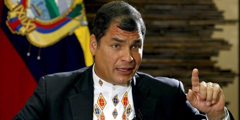 ECUADORAN PRESIDENT INTERVIEW IN BARCELONA