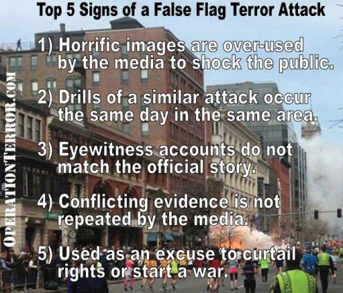 false flag terror attack