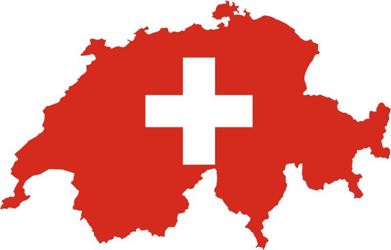 Switzerland-Flag-Map