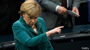 merkel pointing out