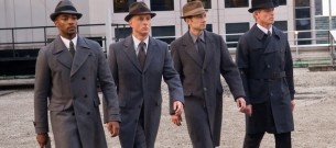 suit men group actors hats