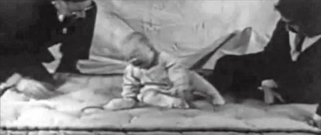 The Little Albert Experiment; http://www.youtube.com/watch?v=9hBfnXACsOI