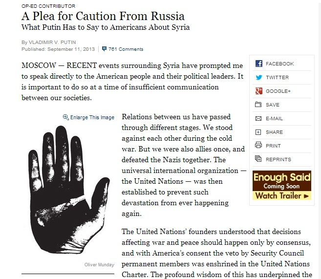 Putin in New York Times
