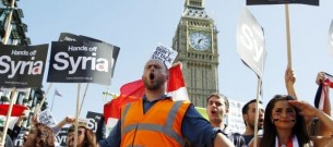 london protests against war in syria