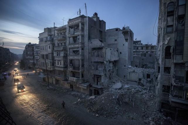 syria bombed building
