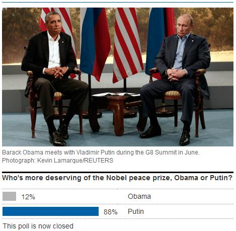 obama putin nobel peace prize poll