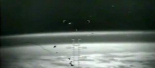 ufo flying away from earth
