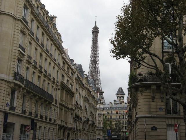 Buildings in Paris  and Eiffel Tour
