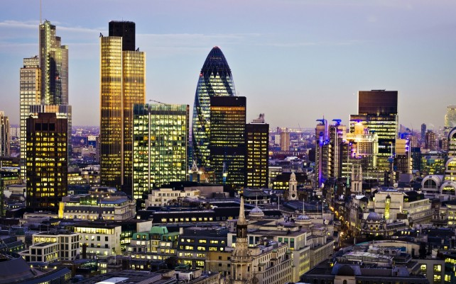 city of london evening light